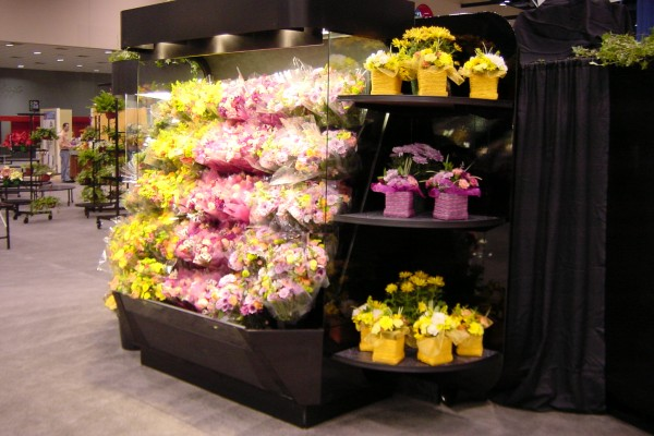 8 ft. flower basket open floral display case from Borgen Systems
