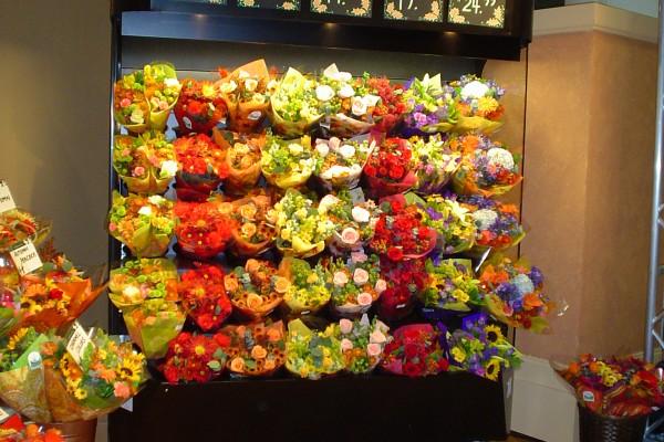 Floral baskets - open flower display case - Borgen
