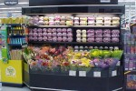 Open flower cooler with flip-up convervion shelving - Borgen