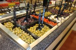 Cold salad bar display case by Borgen Systems