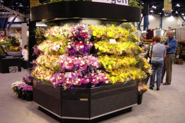 Open wrap floral display case from Borgen