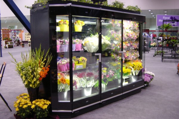 Borgen Systems floral display - 2 door combination case