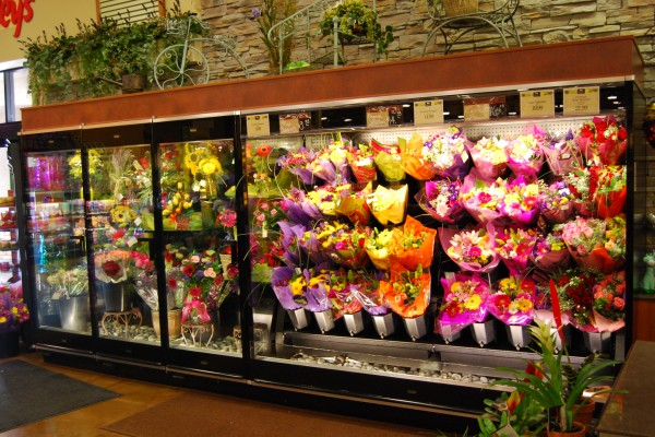 3 door combination flower case with fresh water exchange system