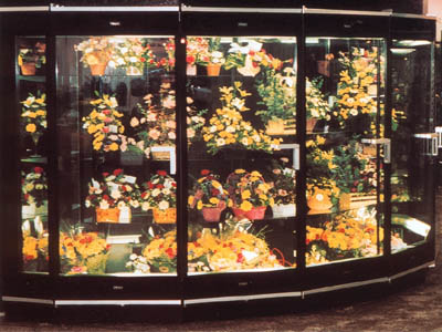 Five door walk in floral cooler from Borgen