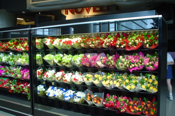 8 foot floral merchandising system from Borgen Systems