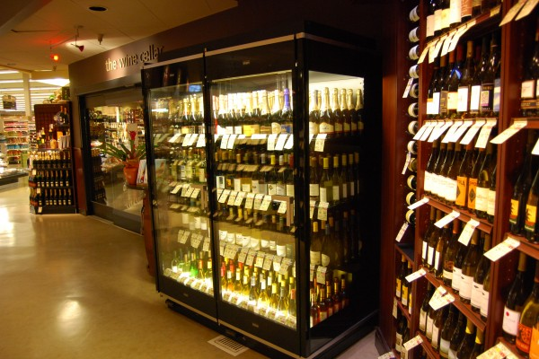 Wine cellar and display case from Borgen
