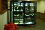 Private 2 door wine display case