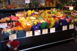 Low profile flower case at Raley's from Borgen Merchandising Systems