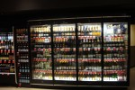 Wine merchandising display case from Borgen Systems